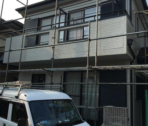 広島県東広島市 外壁塗装 屋根塗装 付帯部塗装 足場設置