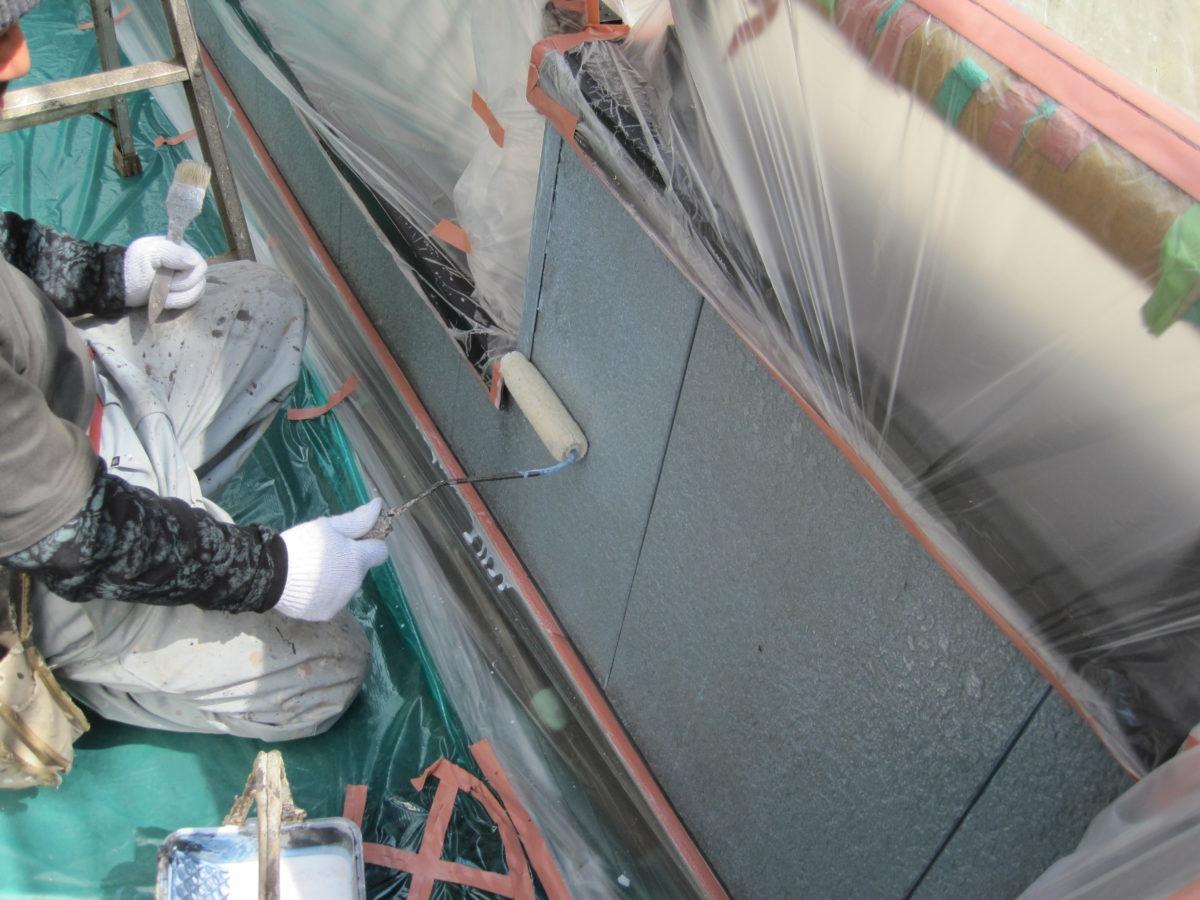 広島県東広島市 外壁塗装 塗装作業の画像