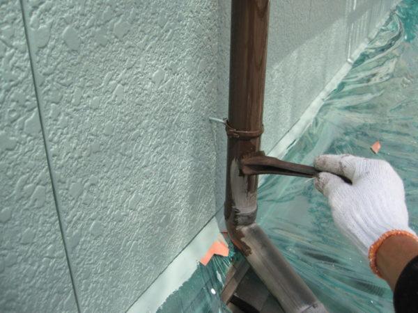 広島県東広島市 外壁塗装 雨樋塗装の画像