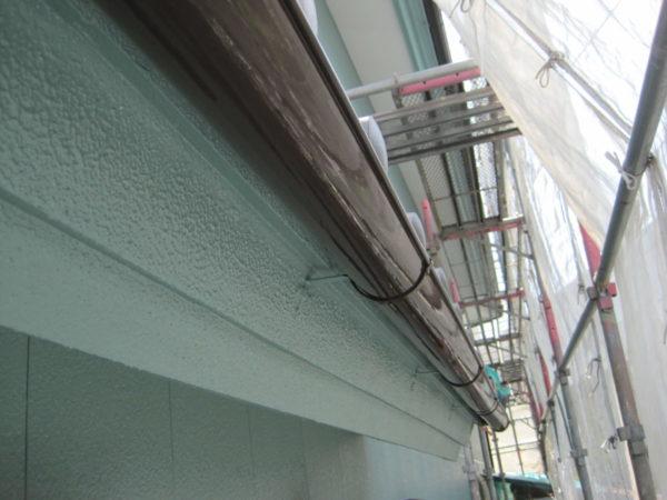 広島県東広島市 外壁塗装 雨樋塗装仕上げの画像