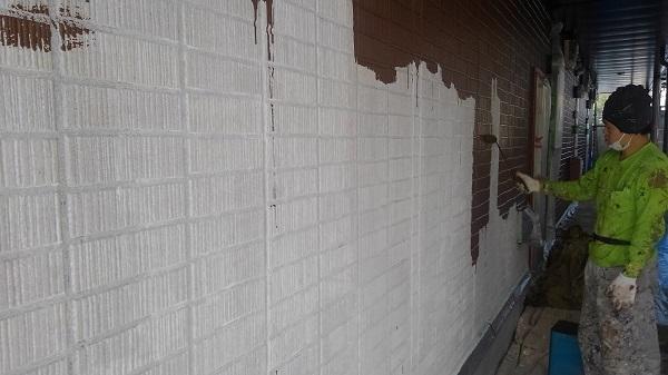 広島県東広島市 外壁塗装 付帯部塗装 塗装工事の工程 ダイヤ スーパーセランフレックス