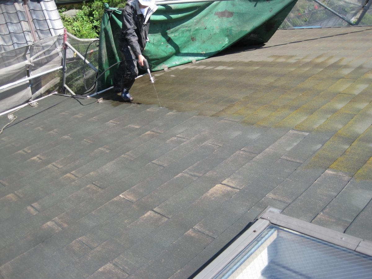 広島県東広島市 屋根塗装 高圧洗浄の画像