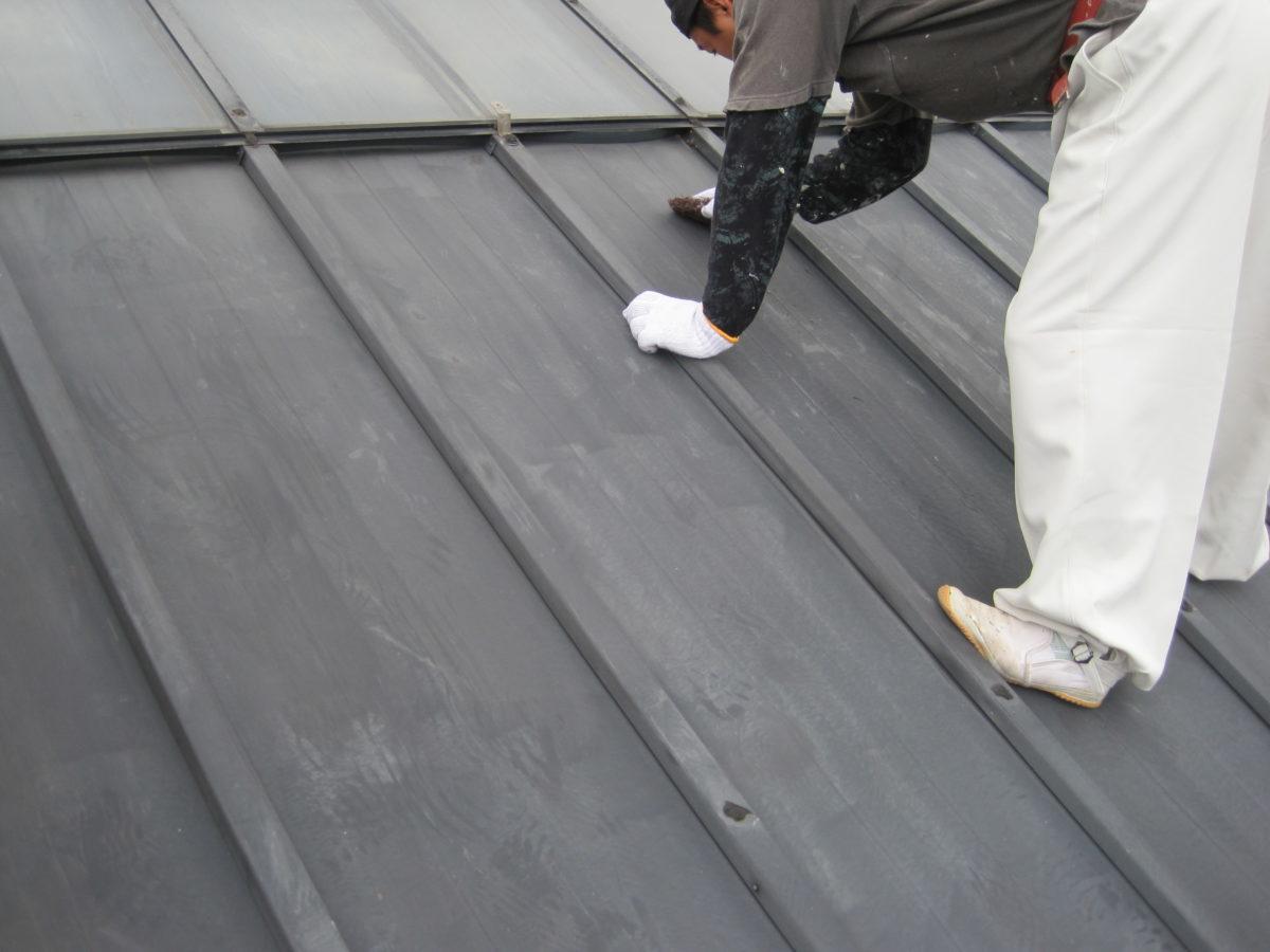 広島県広島市板金屋根・外壁塗装工事 板金屋根施工の画像