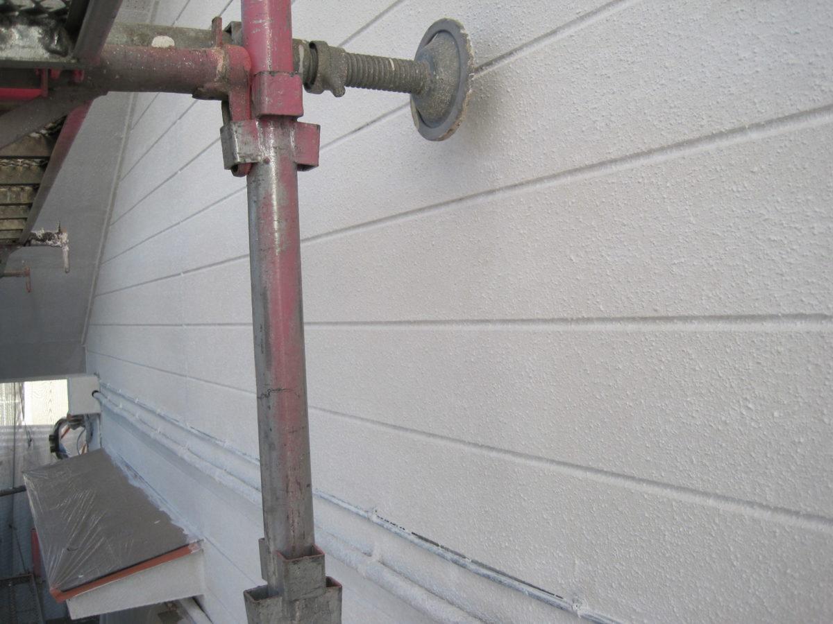 広島県広島市外壁塗装工事足場設置の写真