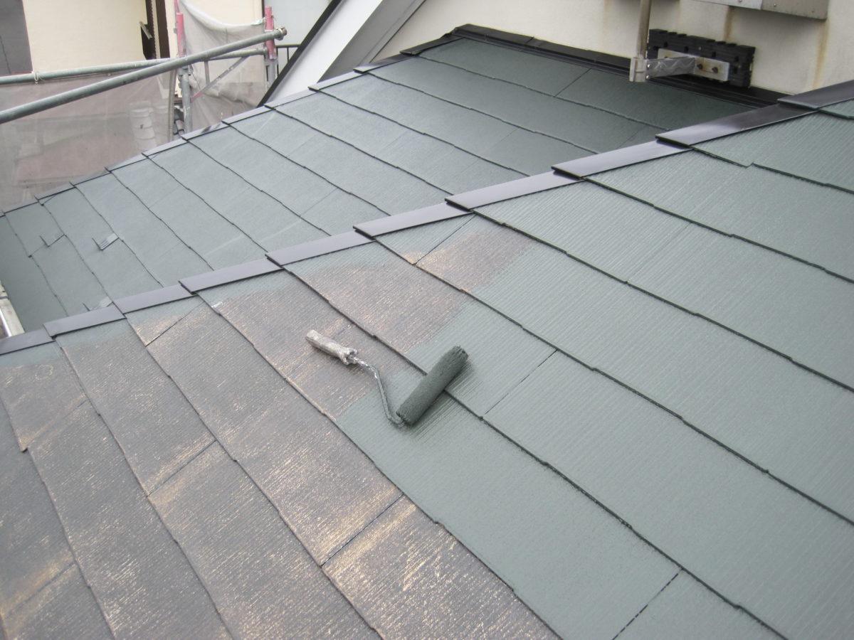 広島県東広島市 屋根塗装 屋根塗料塗布の画像
